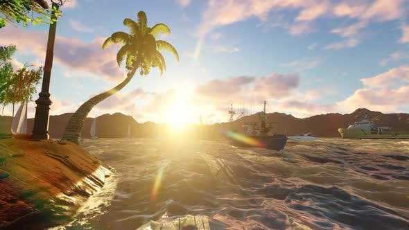 Thumbnail for Sunset by the beach