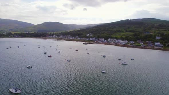 Lamlash Bay on the Isle of Arran at Blue Hour