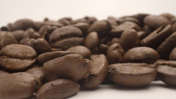 Panning Footage of Coffee Beans