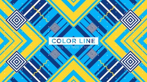 Color Line Vj Loops Background
