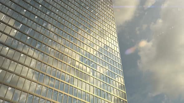 Office Building Windows and Skyscraper Building with Corporate Offices Loopable