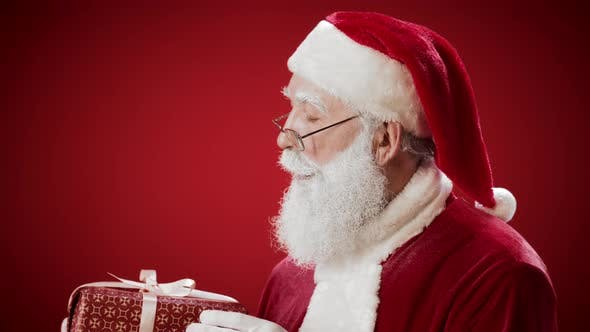 Thumbnail for Santa Claus with Beautiful Xmas Present