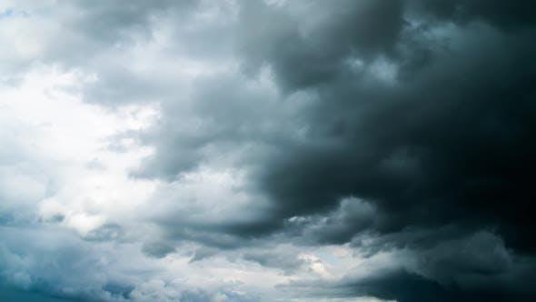 Regen Dramatisch Wolken