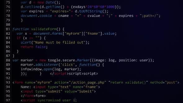 Thumbnail for Computer Code Programming Screen Loop