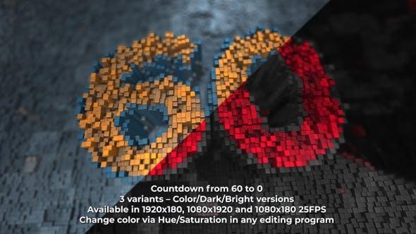 Cubes Array Countdown V1 4K