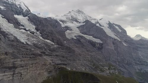 Eiger and Jungfrau in the Bernese Alps Switzerland