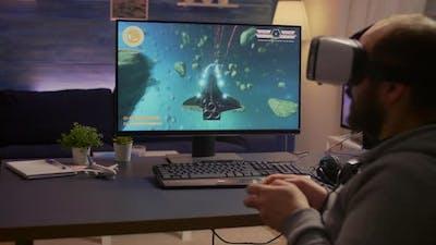 Pro Gamer Winning Space Shooter Video Games