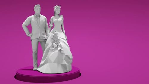 3D Groom and Bride Spin