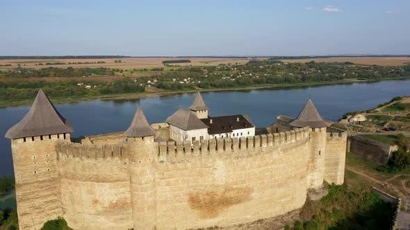 Old Khotyn Fortress in Ukraine