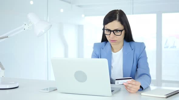 Thumbnail for Woman Excited for Online Shopping, Payment by Credit Card