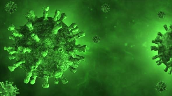 Green Coronavirus Background 4K