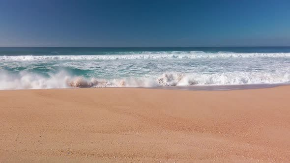 Thumbnail for View of the Ocean Waves from Sandy Beach