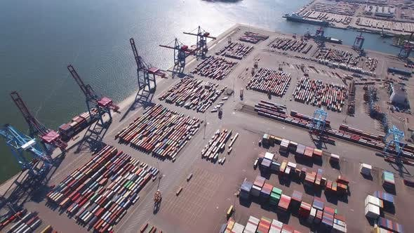 Thumbnail for Aerial View of Container Port