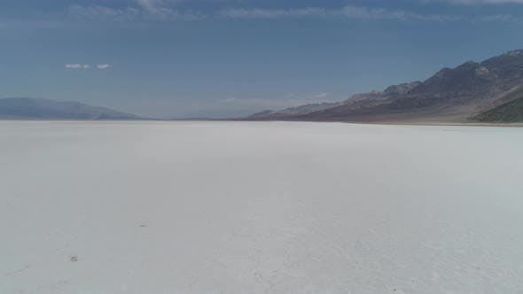 Thumbnail for Aerial view of salt flats in Death Valley