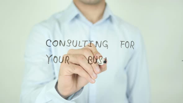 Thumbnail for Consulting for Your Business, Writing On Screen