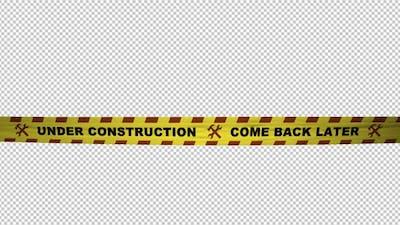 Warning Tape - Under Construction - 4K Loop
