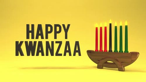 Happy Kwanzaa holiday greeting