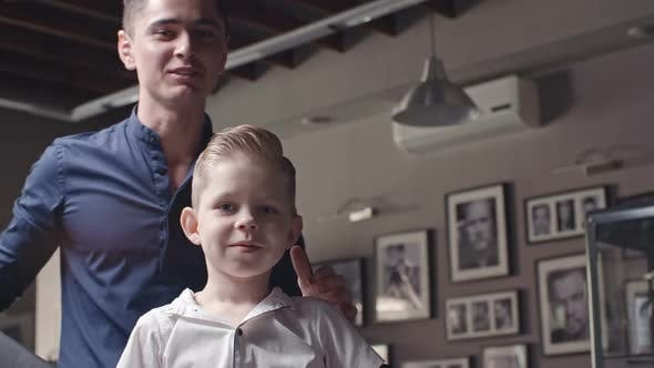 Thumbnail for Cute Little Customer in Barbershop