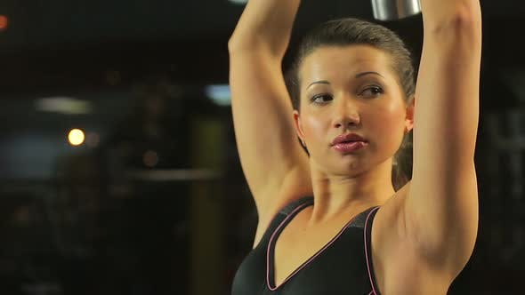 Thumbnail for Self-Confident Successful Woman Doing Dumbbell Exercise, Active Workout in Gym