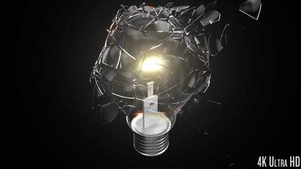 Thumbnail for 4K Lightbulb Breaking Closeup