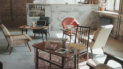 Overview of Stylish Coworking Workspace
