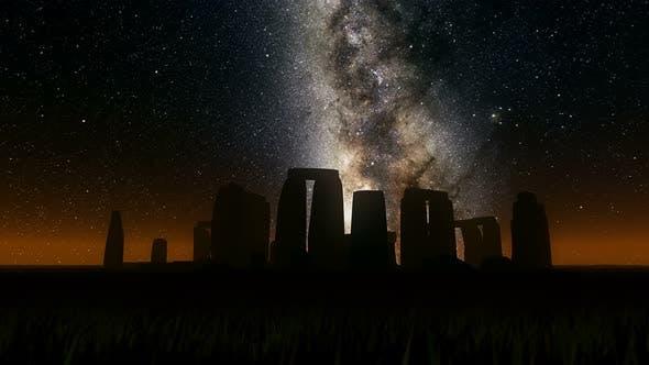 Thumbnail for Milkyway Timelapse Stonehenge Silhouette