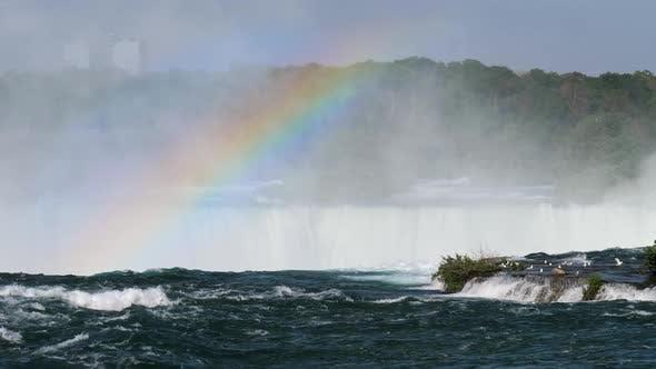 Thumbnail for Niagara Falls Landscape and Rainbow