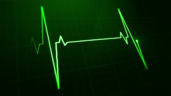 Thumbnail for Digital EKG Pulse Green