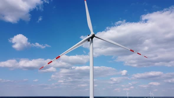 Thumbnail for Aerial View of Wind Turbine