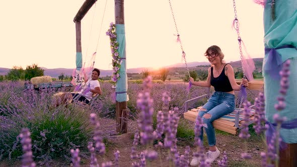Couples in Lavender Garden