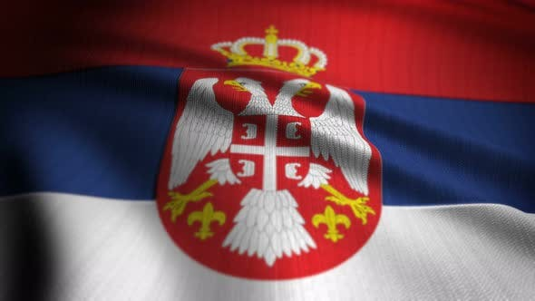 Thumbnail for Serbia Flag Seamless Loop