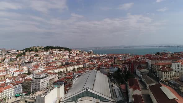Thumbnail for Lisbon, Portugal Skyline Towards Sao Jorge Castle