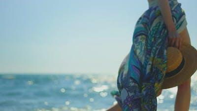 Woman in summer clothing walking
