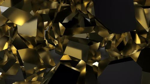 Explosion Black Gold Wall on Fragment Particle