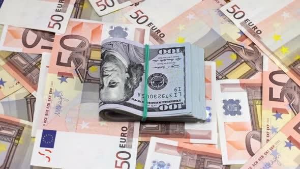 Thumbnail for Rotating Hundred Dollar And Euro Banknotes 5