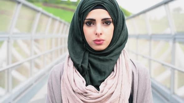 Teenage girl wearing hijab