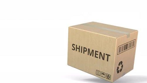 Carton with SHIPMENT Text