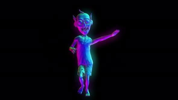 4K Glühende Zombie tanzende Salsa mit Alpha