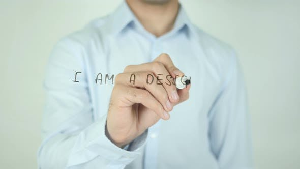 Thumbnail for I Am a Designer, Writing On Screen