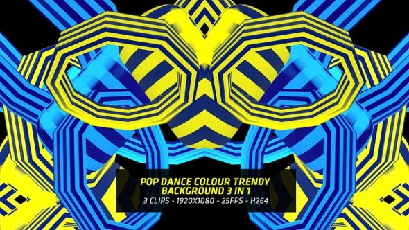 Thumbnail for Pop Dance Colour Trendy Background 3 In 1