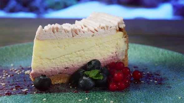 Thumbnail for Classic Cheesecake with Berries on Plate.