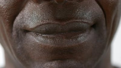 Mouth of African American Man