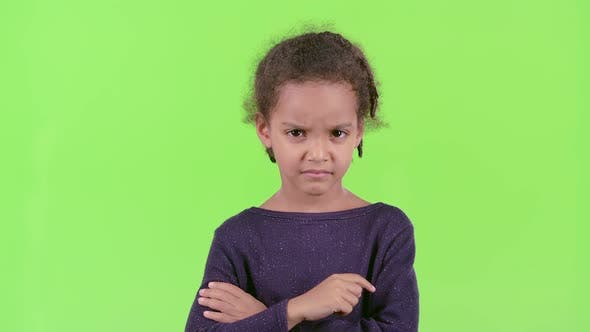 Thumbnail for Child of an African American Is Unhappy with the Behavior of Friends. Green Screen