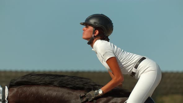 Thumbnail for Horseback riding in the air, Ultra Slow Motion