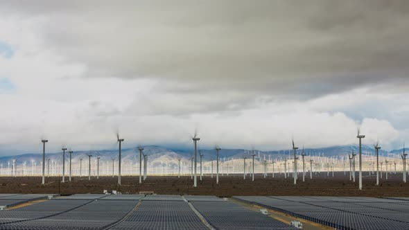Thumbnail for Time Lapse of Solar And Wind Power Generation In California