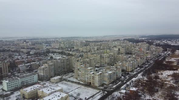 Top View of the City Chervonograd, Ukraine