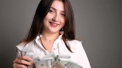 Rich Happy Woman
