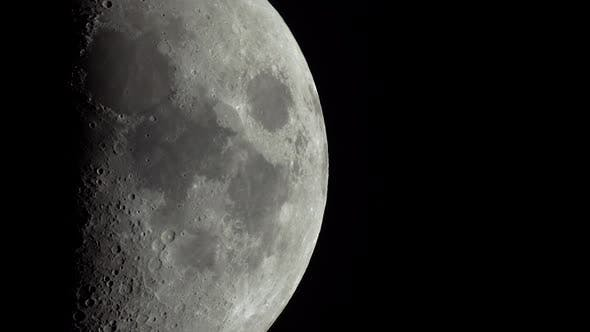 Cover Image for Moon Close-up. Planet Satellite.