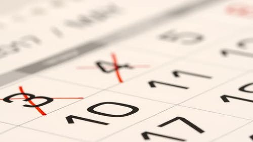 Crossing out (red marker) a numbers in a calendar - Macro