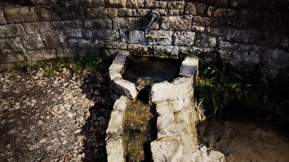 Historic Old Traditional Water Well in a Village
